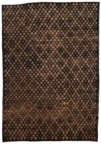 Moroccan Berber - Afghanistan Matto 197X280 Moderni Käsinsolmittu Tummanruskea/Ruskea (Villa, Afganistan)