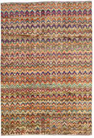 Moroccan Berber - Afghanistan Matto 196X283 Moderni Käsinsolmittu Tummanruskea/Tummanpunainen (Villa, Afganistan)