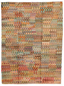 Moroccan Berber - Afghanistan Matto 209X289 Moderni Käsinsolmittu Tummanbeige/Tummanharmaa (Villa, Afganistan)