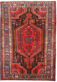 Hamadan Matto 105X151 Itämainen Käsinsolmittu Tummanruskea/Tummanpunainen (Villa, Persia/Iran)