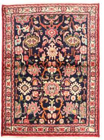 Rudbar Matto 101X138 Itämainen Käsinsolmittu Tummansininen/Vaaleanpunainen (Villa, Persia/Iran)