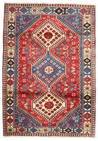 Yalameh Matto 101X153 Itämainen Käsinsolmittu Tummanpunainen/Tummanharmaa (Villa, Persia/Iran)