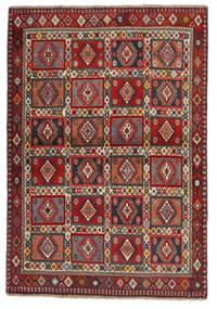 Yalameh Matto 102X150 Itämainen Käsinsolmittu Tummanpunainen/Tummanruskea (Villa, Persia/Iran)
