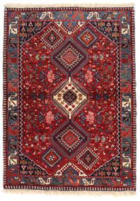 Yalameh Matto 102X143 Itämainen Käsinsolmittu Tummanpunainen/Tummanvioletti (Villa, Persia/Iran)