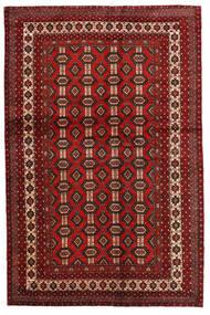 Mashad Matto 130X200 Itämainen Käsinsolmittu Tummanpunainen/Tummanruskea (Villa, Persia/Iran)