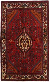 Hamadan Matto 142X234 Itämainen Käsinsolmittu Musta/Ruoste (Villa, Persia/Iran)
