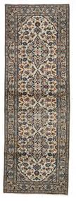 Keshan Matto 100X291 Itämainen Käsinsolmittu Käytävämatto Vaaleanharmaa/Musta (Villa, Persia/Iran)