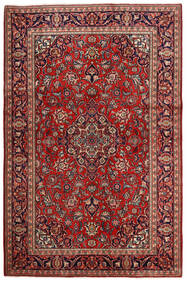 Keshan Matto 132X203 Itämainen Käsinsolmittu Tummanpunainen/Tummanruskea (Villa, Persia/Iran)