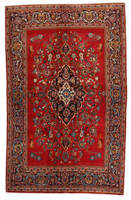Keshan Matto 135X215 Itämainen Käsinsolmittu Tummanpunainen/Ruoste (Villa, Persia/Iran)