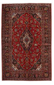 Keshan Matto 140X219 Itämainen Käsinsolmittu Tummanpunainen/Tummanruskea (Villa, Persia/Iran)