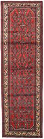 Hamadan Matto 84X278 Itämainen Käsinsolmittu Käytävämatto Tummanpunainen/Tummanruskea (Villa, Persia/Iran)