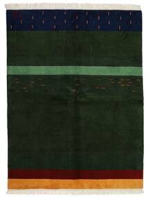 Gabbeh Indo Matto 172X226 Moderni Käsinsolmittu Tummanvihreä (Villa, Intia)