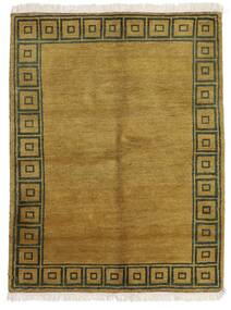 Gabbeh Indo Matto 143X186 Moderni Käsinsolmittu Oliivinvihreä/Ruskea (Villa, Intia)