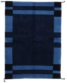 Gabbeh Indo Matto 144X201 Moderni Käsinsolmittu Tummansininen (Villa, Intia)