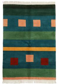 Gabbeh Indo Matto 141X201 Moderni Käsinsolmittu Tumma Turkoosi/Tummanvihreä (Villa, Intia)