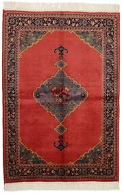Kazak Matto 136X200 Itämainen Käsinsolmittu Tummanruskea/Tummanpunainen/Ruoste (Villa, Pakistan)