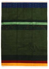 Gabbeh Indo Matto 253X347 Moderni Käsinsolmittu Tummanvihreä Isot (Villa, Intia)