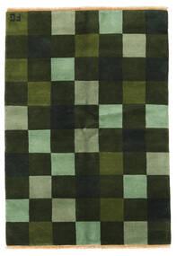 Gabbeh Indo Matto 142X203 Moderni Käsinsolmittu Tummanvihreä/Oliivinvihreä (Villa, Intia)