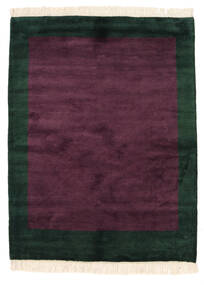 Gabbeh Indo Matto 145X189 Moderni Käsinsolmittu Tummanvioletti/Musta (Villa, Intia)