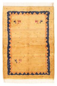Gabbeh Indo Matto 139X195 Moderni Käsinsolmittu Vaaleanruskea/Tummanbeige (Villa, Intia)