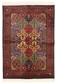 Kazak Matto 135X192 Itämainen Käsinsolmittu Tummanpunainen/Musta (Villa, Pakistan)