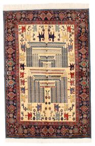 Ziegler Moderni Matto 134X198 Moderni Käsinsolmittu Tummanharmaa/Tummanpunainen/Beige (Villa, Pakistan)