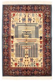 Ziegler Moderni Matto 138X200 Moderni Käsinsolmittu Tummanharmaa/Tummanpunainen (Villa, Pakistan)