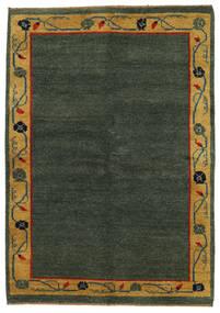 Gabbeh Indo Matto 143X186 Moderni Käsinsolmittu Tummanvihreä/Ruskea (Villa, Intia)