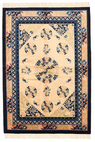 Kiina Antiikkiviimeistely Matto 137X198 Itämainen Käsinsolmittu Tummanbeige/Tummanvioletti (Villa, Kiina)