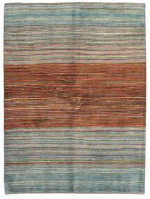 Gabbeh Persia Matto 148X198 Moderni Käsinsolmittu Tummanpunainen/Vaaleanharmaa (Villa, Persia/Iran)