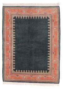 Himalaya Matto 141X186 Moderni Käsinsolmittu Musta/Tummanruskea (Villa, Intia)