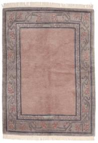 Himalaya Matto 142X197 Moderni Käsinsolmittu Vaaleanpunainen/Vaaleanharmaa (Villa, Intia)