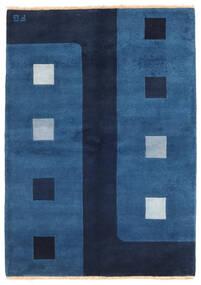 Gabbeh Indo Matto 144X203 Moderni Käsinsolmittu Tummansininen/Sininen (Villa, Intia)