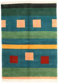 Gabbeh Indo Matto 170X231 Moderni Käsinsolmittu Tumma Turkoosi/Oranssi (Villa, Intia)