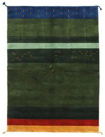 Gabbeh Indo Matto 166X229 Moderni Käsinsolmittu Tummanvihreä (Villa, Intia)