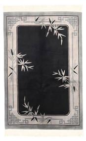 Kiina Antiikkiviimeistely Matto 122X183 Itämainen Käsinsolmittu Musta/Vaaleanharmaa (Villa, Kiina)