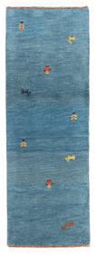 Gabbeh Indo Matto 61X175 Moderni Käsinsolmittu Käytävämatto Sininen/Siniturkoosi (Villa, Intia)