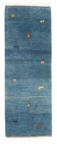 Gabbeh Indo Matto 65X183 Moderni Käsinsolmittu Käytävämatto Sininen/Tummansininen (Villa, Intia)
