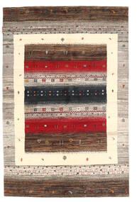 Gabbeh Loribaft Matto 117X177 Moderni Käsinsolmittu Vaaleanharmaa/Tummanpunainen (Villa, Intia)
