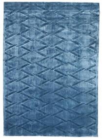Viskoosi Moderni Matto 172X241 Moderni Käsinsolmittu Tummansininen/Sininen ( Intia)