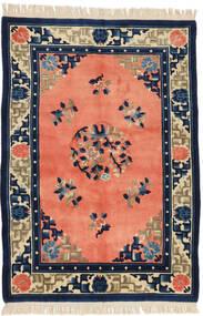 Kiina Antiikkiviimeistely Matto 125X182 Itämainen Käsinsolmittu Oranssi/Tummansininen (Villa, Kiina)