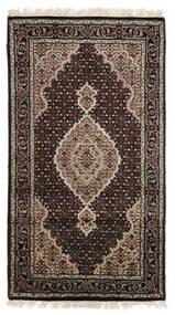 Tabriz Royal Matto 90X163 Itämainen Käsinsolmittu Tummanruskea/Vaaleanharmaa ( Intia)