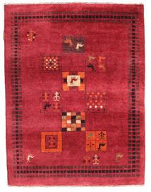 Gabbeh Loribaft Matto 88X116 Moderni Käsinsolmittu Punainen/Tummanpunainen (Villa, Intia)