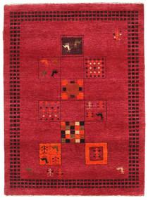 Gabbeh Loribaft Matto 90X126 Moderni Käsinsolmittu Punainen/Tummanpunainen (Villa, Intia)