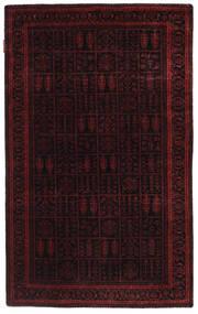 Gabbeh Loribaft Matto 91X150 Moderni Käsinsolmittu Tummanpunainen (Villa, Intia)