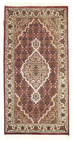 Tabriz Royal Matto 70X140 Itämainen Käsinsolmittu Tummanruskea/Vaaleanruskea/Valkoinen/Creme ( Intia)