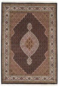 Tabriz Royal Matto 168X240 Itämainen Käsinsolmittu Tummanruskea/Vaaleanharmaa ( Intia)