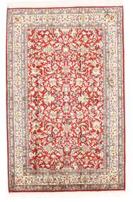 Kashmir 100% Silkki Matto 78X121 Itämainen Käsinsolmittu Beige (Silkki, Intia)