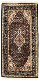 Tabriz Royal Matto 70X138 Itämainen Käsinsolmittu Tummanruskea/Ruskea ( Intia)