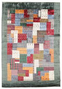 Gabbeh Loribaft Matto 165X238 Moderni Käsinsolmittu Tummanharmaa/Beige (Villa, Intia)